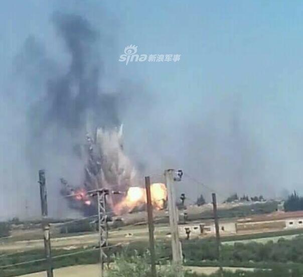 シリア空軍基地爆発_1