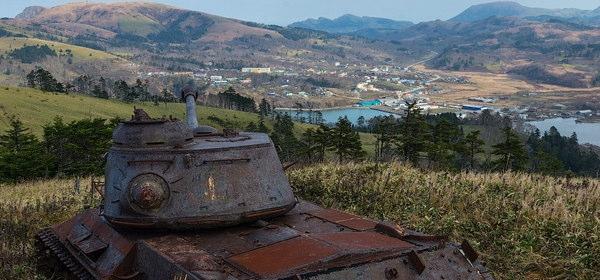 色丹島の戦車