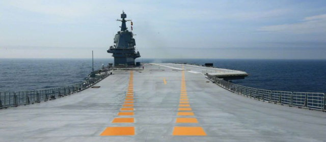 001A型空母試験航海