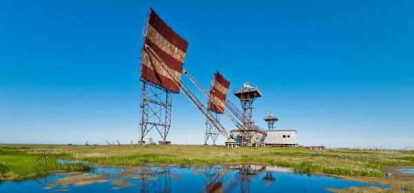 ロシアの無線通信基地