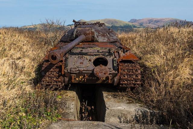 色丹島の戦車_3