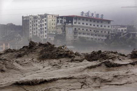 四川省の洪水