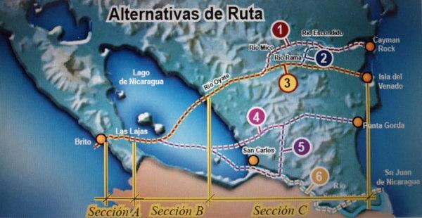 ニカラグア運河ルート