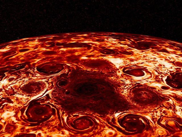 木星 北極の台風