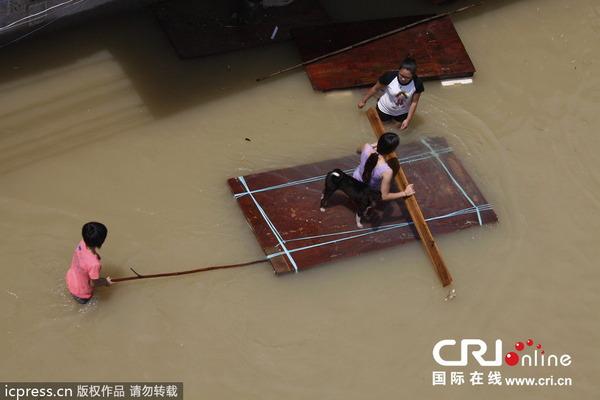 中国で発生した台風11号の被害