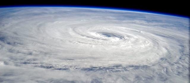 台風5号 宇宙