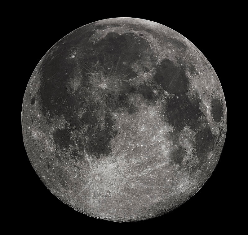 月のクレーター、ティコの丘