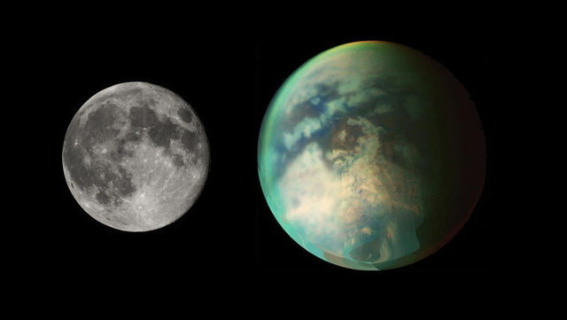 月とタイタン
