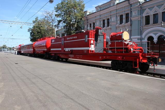 ロシアの消防列車