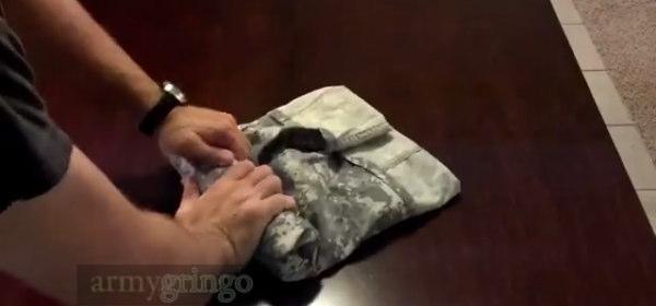 米軍式服のたたみ方