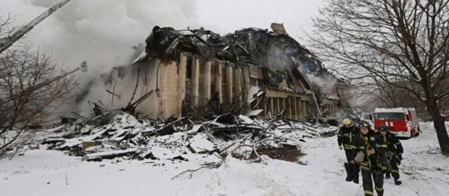 ロシアの図書館火災
