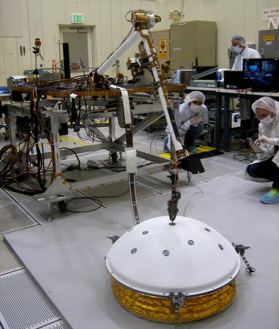 火星探査機インサイト 地震計