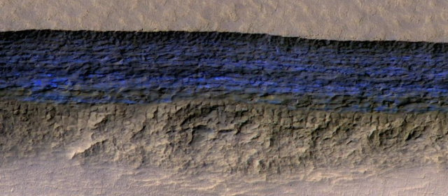 火星 氷の層