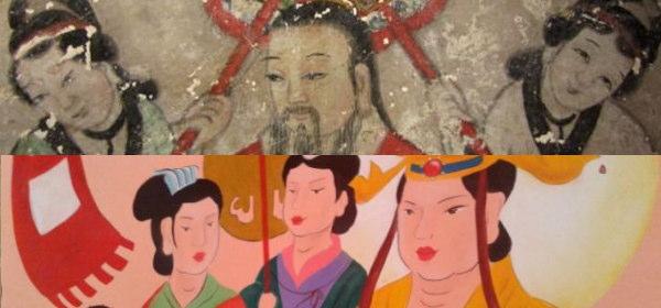 中国の壁画修復