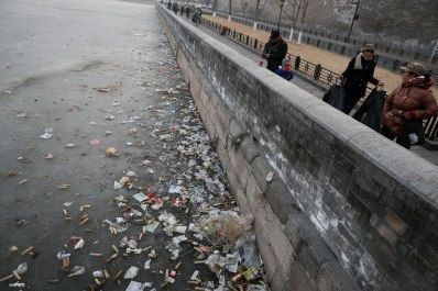 紫禁城 ゴミ