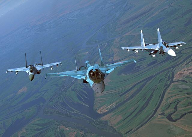 Su-27とSu-34