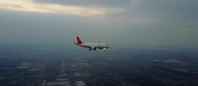 ドローン旅客機撮影