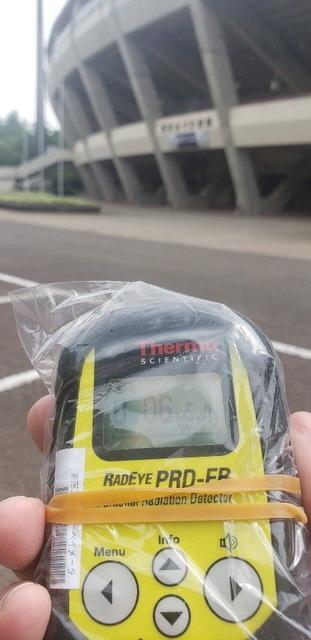 あづま球場 放射線測定_1