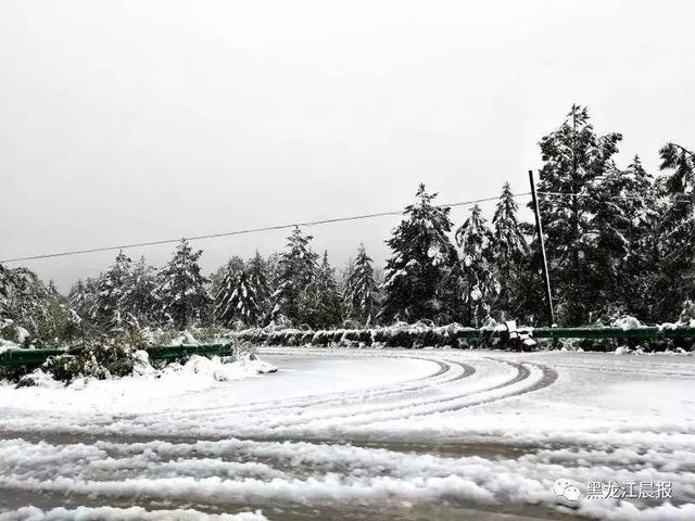 黒竜江省の初雪_3
