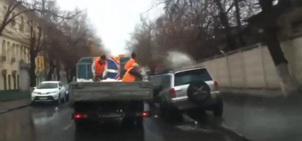 ロシアの凍結防止剤散布