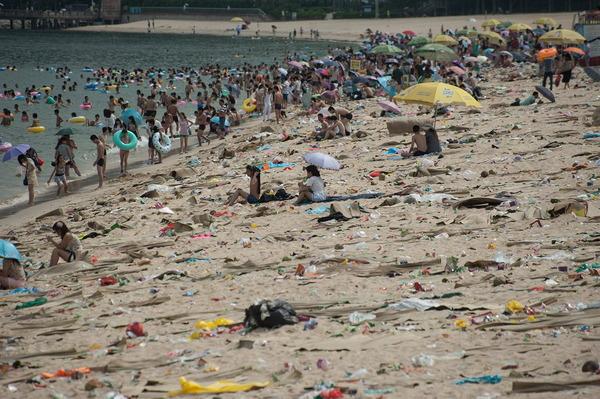 海水浴場とゴミ