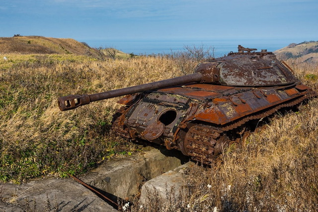 色丹島の戦車_4