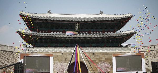 南大門の塗装