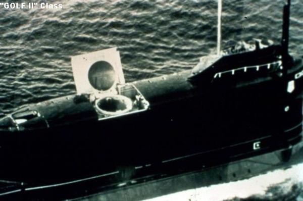 ゴルフ型潜水艦のD-4発射装置