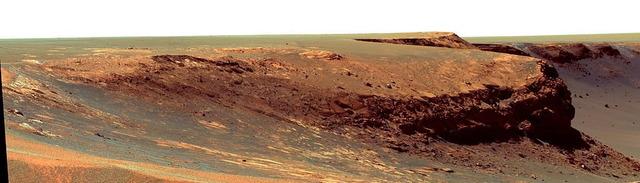 火星のヴィクトリアクレーター
