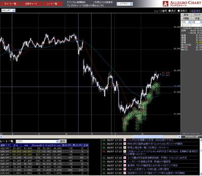 フォレックストレードチャート20100607