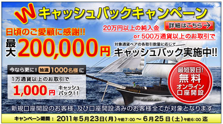 FXCMジャパン証券キャンペーン