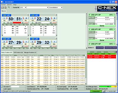 シーネックスC-nexの取引画面の評判評価