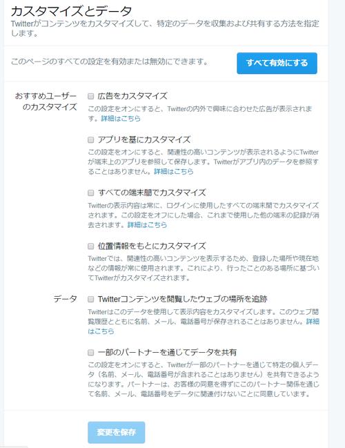 Twitterプライバシーポリシー