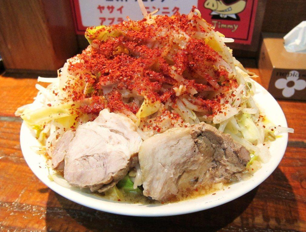 ラーメン ZATSUのラーメン : 背脂野菜ドカ盛りラーメン 天運我に有り@立川市 ZATSUの