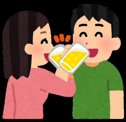 couple_cross_kanpai_beer