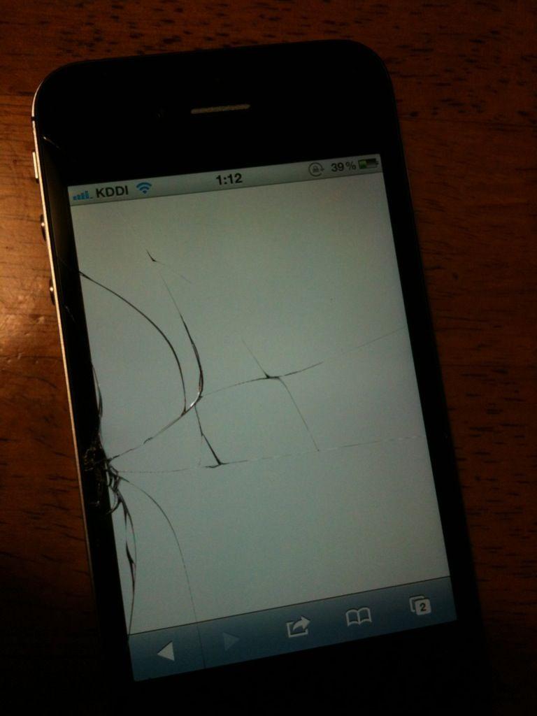 iphone4sヒビワレ