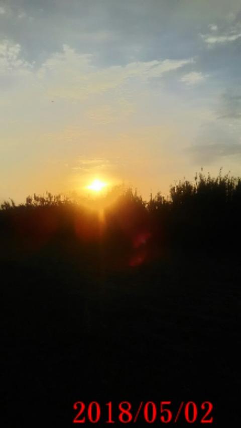②朝日が綺麗だな