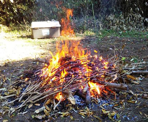 201223焚き火