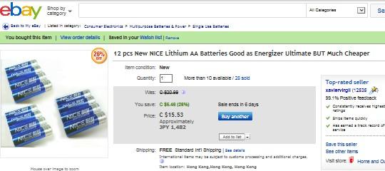 Lithium AA Batteries 01