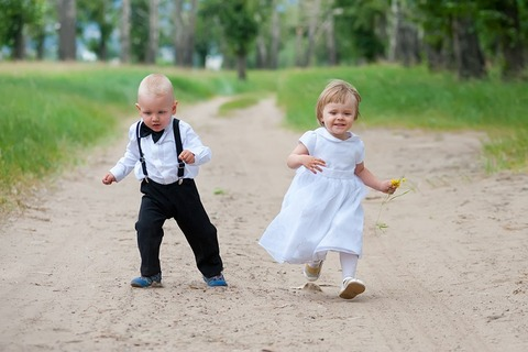 bigstock-Happy-Running-Babies-55588133