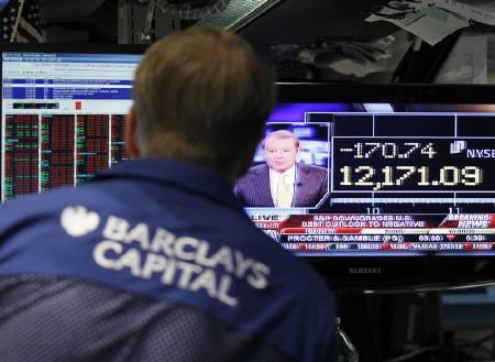 4.18 NYSE 米国格付け見通し引き下げで反落