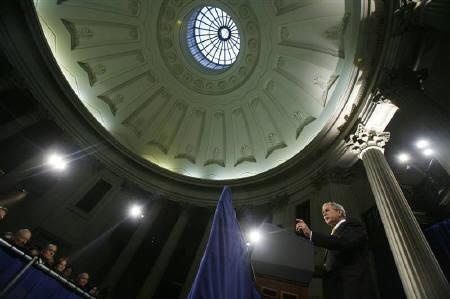11.14金融サミットへ ブッシュ大統領