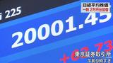 4.10 取引時間中高値で15年ぶりに2万円回復