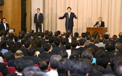 2010.06.02 民主党両院議員総会で辞意を表明する鳩山由紀夫首相