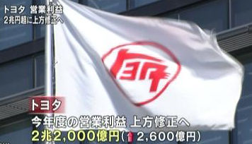 11.6 トヨタ決算観測報道