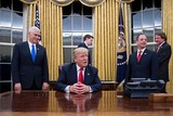 ホワイトハウス トランプ大統領