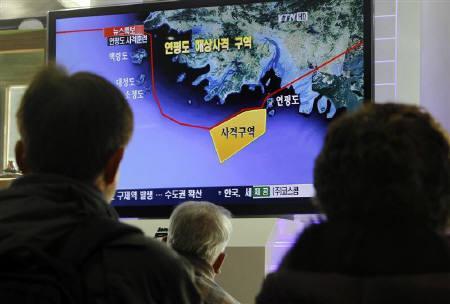 12.20 韓国軍による延坪島からの実弾射撃訓練開始