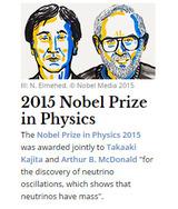 2015ノーベル物理学賞