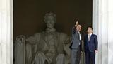 2015.4.27 安倍総理とオバマ大統領 リンカーン記念館