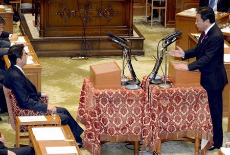 11.14 野田首相と安倍総裁 党首討論